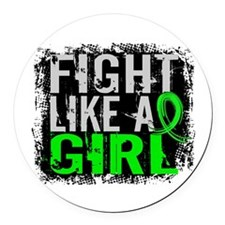 Licensed Fight Like a Girl 31.8 L Round Car Magnet