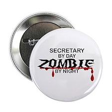 "Secretary Zombie 2.25"" Button"