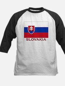 Slovakia Flag Stuff Kids Baseball Jersey
