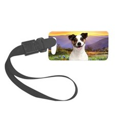 Jack Russell Meadow Luggage Tag
