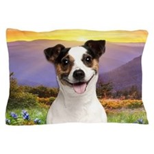 Jack Russell Meadow Pillow Case