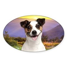 Jack Russell Meadow Decal