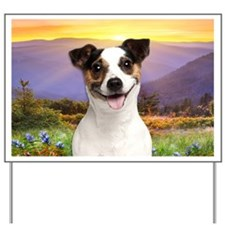 Jack Russell Meadow Yard Sign