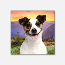 "Jack Russell Meadow Square Sticker 3"" x 3"""