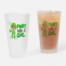 Licensed Fight Like a Girl 42.8 Lym Drinking Glass
