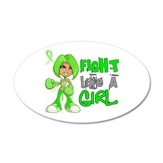 Licensed Fight Like a Girl 4 Wall Decal