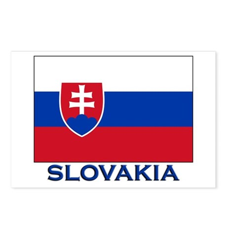 Slovakia Flag Gear Postcards (Package of 8)