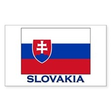 Slovakia Flag Gear Rectangle Decal