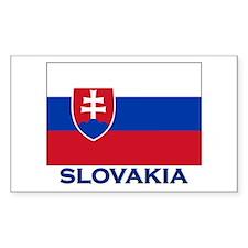 Slovakia Flag Gear Rectangle Decal