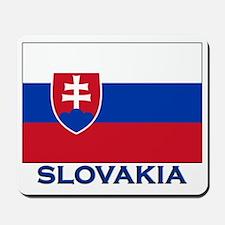 Slovakia Flag Gear Mousepad