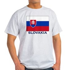 Slovakia Flag Gear Ash Grey T-Shirt