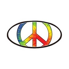 Peace Sign Tie Dye Offset Rainbow Patches