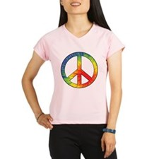 Peace Sign Tie Dye Offset Rainbow Performance Dry