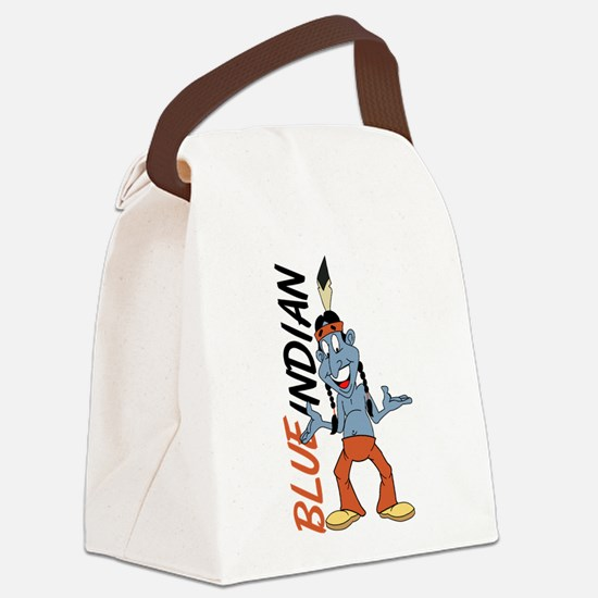 Blue Indian Canvas Lunch Bag
