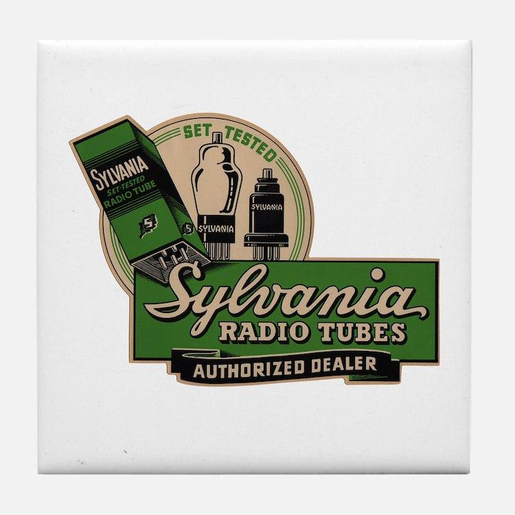 Sylvania Radio Tubes Tile Coaster