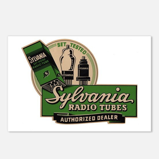 Sylvania Radio Tubes Postcards (Package of 8)