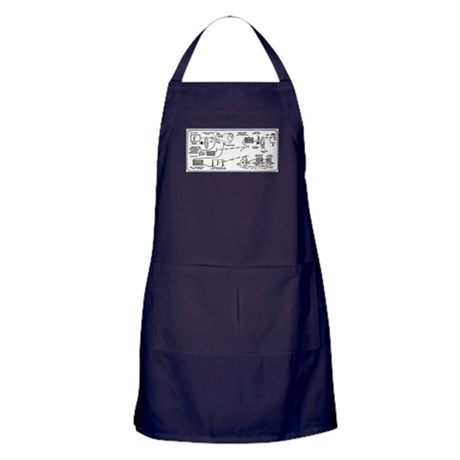 Early Television Apron (dark)