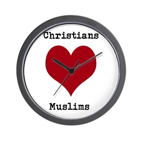 Christians Love Muslims Wall Clock