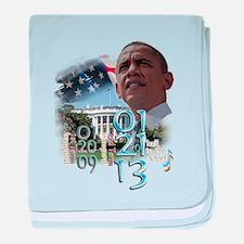 Obama's 2 Terms: baby blanket
