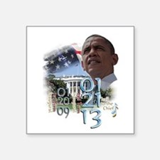 "Obama's 2 Terms: Square Sticker 3"" x 3"""