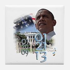 Obama's 2 Terms: Tile Coaster