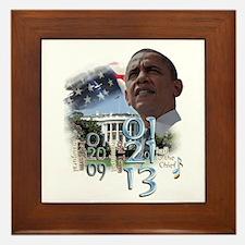 Obama's 2 Terms: Framed Tile