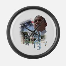Obama's 2 Terms: Large Wall Clock