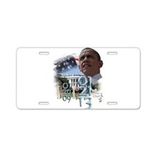 Obama's 2 Terms: Aluminum License Plate