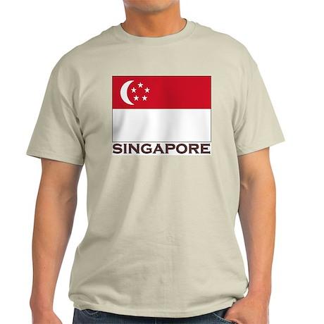 Flag of Singapore Ash Grey T-Shirt
