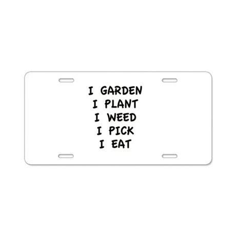 I Garden Aluminum License Plate