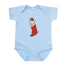 Piebald Dachshund Stocking Infant Bodysuit