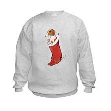 Piebald Dachshund Stocking Sweatshirt