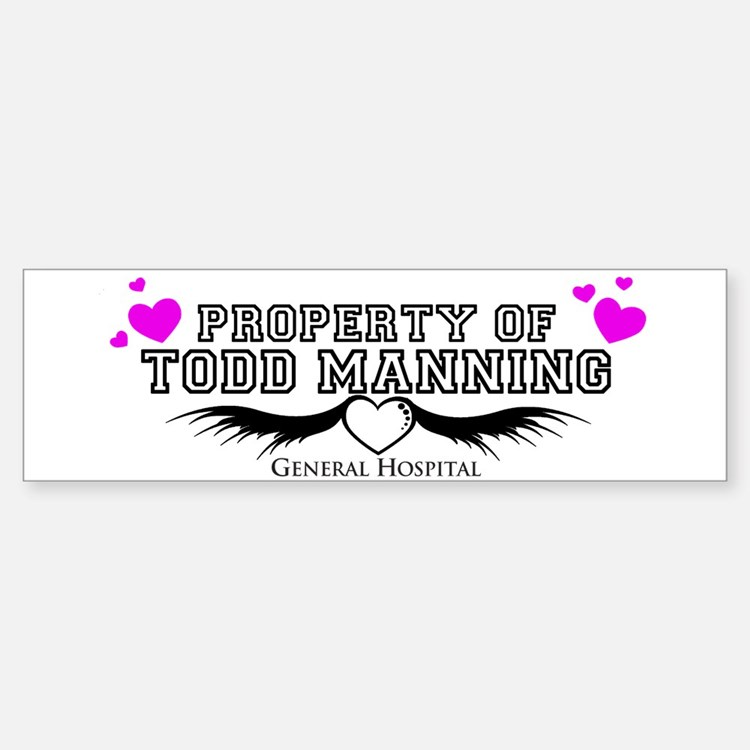 Property Of Todd Bumper Bumper Sticker