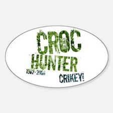 Crikey Crocodile Hunter Oval Decal