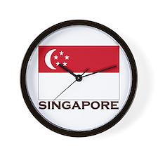 Flag of Singapore Wall Clock