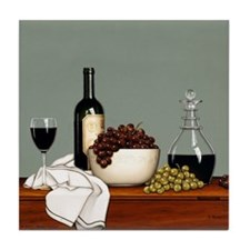 """Still Life with Grapes"" Tile Coaster"