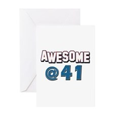Awesome at 41 Greeting Card