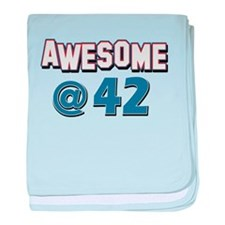 Awesome at 42 baby blanket