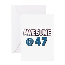 Awesome at 47 Greeting Card
