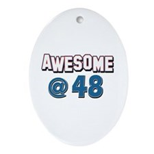 Awesome at 48 Ornament (Oval)