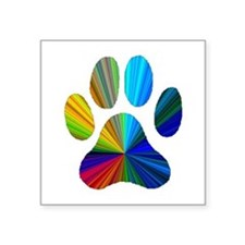 PAW PRINT Rectangle Sticker