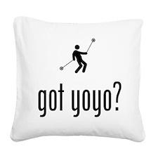 Yo-Yo Square Canvas Pillow