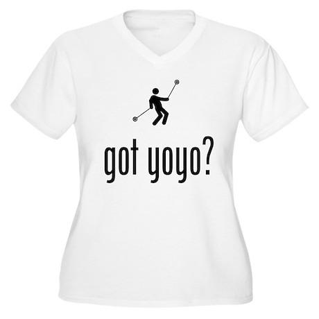 Yo-Yo Women's Plus Size V-Neck T-Shirt