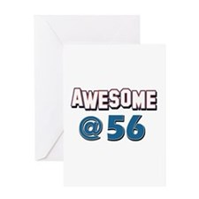 Awesome at 56 Greeting Card