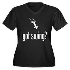 Trapeze Women's Plus Size V-Neck Dark T-Shirt