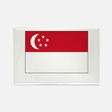 Singapore Flag Picture Rectangle Magnet