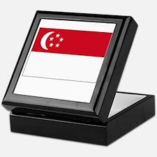 Singapore Flag Picture Keepsake Box