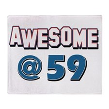 Awesome at 59 Throw Blanket