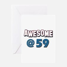 Awesome at 59 Greeting Card