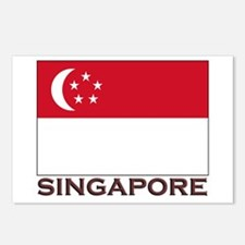 Singapore Flag Stuff Postcards (Package of 8)